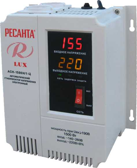 Стабилизатор АСН-1500 Н/1-Ц Lux