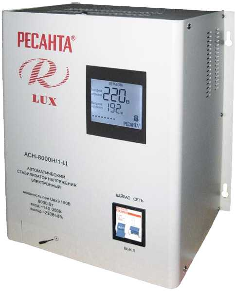 Стабилизатор АСН-8000 Н/1-Ц Lux